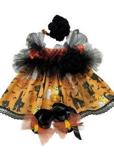 Mic Crafts Handmade Crochet Baby Costume Black Cat Pumpkin Halloween 3pc | eBay