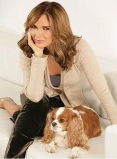 Jaclyn Smith and her Cavalier King Charles Spaniel  - 2009