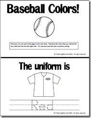 "Booklet, ""Baseball Colors"" (free)"