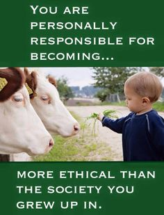 What you learn about eating farmed animals is far beyond being what is ethical.  I am allowed to say this because I raised 'food' animals.  What we do to them is WRONG!... Monika Miller