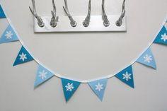 Frozen Inspired Bunting Blue Bunting Snowflake by BettySkyla Felt Play Mat, Play Mats, Blue Bunting, Toy Trees, Frozen Frozen, Summer Trees, Felt Tree, Wooden Tree, Tree Trunks