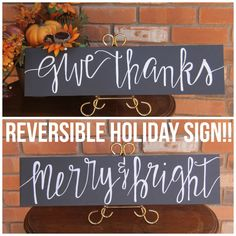 Make this easy DIY Merry and Bright Christmas Sign for your ...