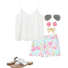 Lilly Pulitzer & Jack Rogers. have shoes & shorts but love themm