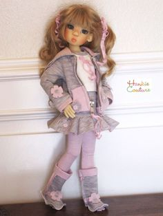 OOAK DOLL DRESS COAT FITS MIKI BJD KAYE WIGGS NYSSA LAYLA MEI MEI HANKIE COUTURE