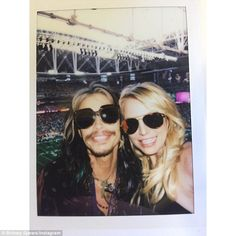Another meeting: At the beginning of February, Steven and Britney met up at the Super Bowl...