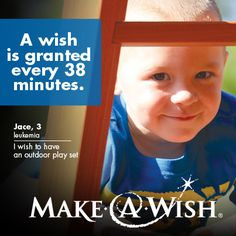 Make-A-Wish® grants the wish of a child diagnosed with a life-threatening medical condition in the United States and its territories, on average, every 38 minutes. We believe that a wish experience can be a game-changer. This one belief guides us. It inspires us to grant wishes that change the lives of the kids we serve.