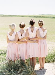 Pretty shot of #bridesmaids all in a row by Victoria Phipps Photography