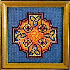 Claddagh Cross Stitch Celtic Sun Cross Pattern