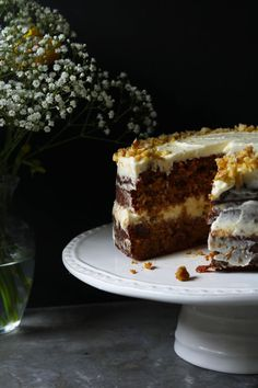carrot cake with orange cream cheese frosting. Sweet Recipes, Cake Recipes, Dessert Recipes, Cupcakes, Cupcake Cakes, Biscuits, Just Cakes, Savoury Cake, How Sweet Eats