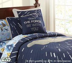 Star Wars™ Millennium Falcon™ Quilted Bedding #pbkids