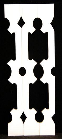 Sawn baluster pattern