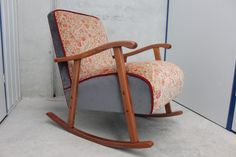 Pettigrew has been recovered in vintage floral and Warwick velvets. This velvet is a lighter weight and as such I would recommend this sweet little. Rocking Chair, Vintage Floral, Chairs, Velvet, Image, Furniture, Home Decor, Chair Swing, Decoration Home
