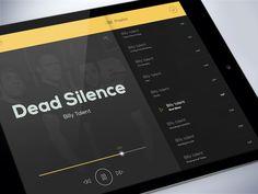 Music Player by Martin Štrba Web Design, App Ui Design, User Interface Design, Ui Design Mobile, Tablet Ui, Human Centered Design, Ipad, Mobile App Ui, Fall 14