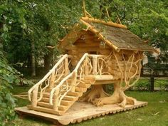 Ok, so this isn't really a treehouse, but man is it cool! -H