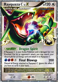Pokemon Card X And Ex | Pokemon Card of the Day: Rayquaza C Lv. X (Supreme Victors ...