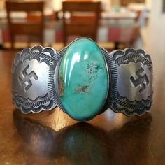 Check out this item in my Etsy shop https://www.etsy.com/listing/281789946/native-american-silver-and-turquoise
