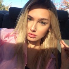 Molly O'Malia Photos: Pictures of Teen Texted by Tyga Blonde Girl Selfie, Beauty Makeup, Hair Makeup, Mixed Girls, Models Makeup, Cute Beauty, Beauty Queens, Beautiful People, Photo Tips