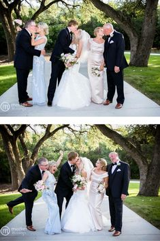 Bride and groom and their parents - best photo idea!