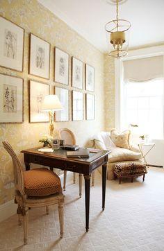 Habitually Chic®: Pretty Petite; love the cushion on the Louis XVI chair.