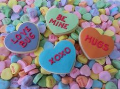 Cute v-day cookies