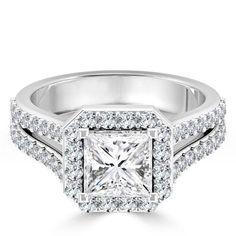 Engagement & Wedding Bridal & Wedding Party Jewelry Sensible 2.52ct Round Cut Vvs1 Diamond 10k Solid White Gold Bridal Engagement Ring Set Fine Quality