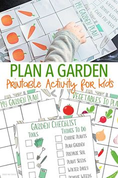 Let kids help get the garden ready with this fun garden activity! Kids can help design their own vegetable garden with a free printable garden planner & garden checklist. A perfect spring garden activity for prreschoolers!