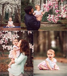 virginia-beach-photographers - spring portrait session with a family of three among the blossoms of the cherry trees and tulip trees at Red Wing Park in Virginia Beach, VA - hampton roads photographer - family photos