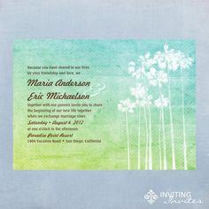 Wedding Invitation Beach  Tropical Watercolor  by InvitingInvites, $15.00