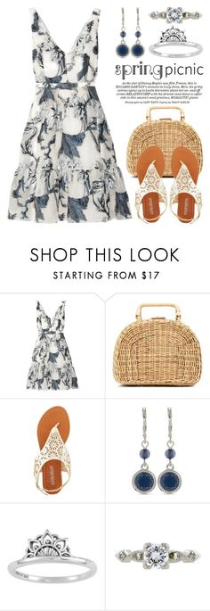 """~Spring Picnic Date~ 3517"" by boxthoughts ❤ liked on Polyvore featuring Erdem, Kayu, Olivia Miller, Nine West and Midsummer Star"