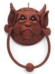 door knockers. fashioned after the ones in the movie Labrynth.