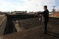 This is the roof of the JJ Rogers building in downtown Tupelo. It originally was a cotton mill. The building's owner, Greg Pirkle, hopes to convert the roof to a dining area. It's accessible for photos, too. Photo courtesy of the Northeast Mississippi Daily Journal.