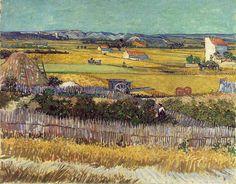 「収穫」 1888, 6月   73 x 92 cm、ファン・ゴッホ国立美術館、アムステルダム