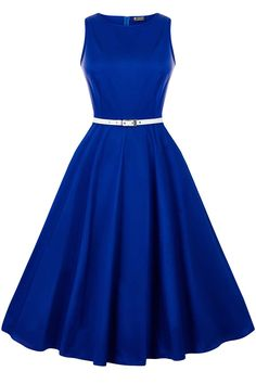 The signature Lady Vintage Hepburn Dress has returned in an elegant Regal Royal Blue shade for...