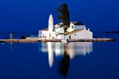 Beautiful shot of Pontikonisi in #Corfu, #Greece
