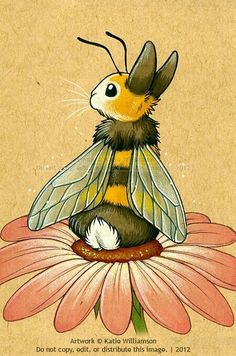 Fluffy bunny who wanted to be a bee