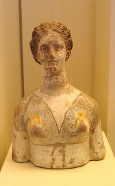 Terracotta bust of Kore/Persephone, National Archaeological Museum, Athens