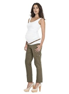 Sateen Cargo Pant | Trousers | Isabella Oliver