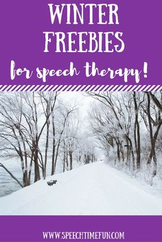 Various winter free resources for speech and language therapy! Vocabulary, listening, syntax, WH questions, and more!