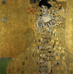 Adele Bloch Portrait, 1907 Gustav #Klimt #Art #Nouveau #Jugendstil #artists #paintings