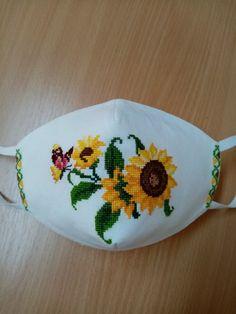Easy Face Masks, Diy Face Mask, Diy Mask, Jenni, Handicraft, Coin Purse, Cross Stitch, Embroidery, Blue Mask
