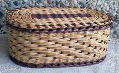 Поделка изделие Плетение Шкатулки  Бумага газетная Трубочки бумажные фото 6