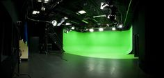 The Video Studio is a versatile space for photo, video, or film. Video Studio, Film Studio, Green Screen Photography, Tv Set Design, Led Dance, Tile Covers, Basement Inspiration, Sound Stage, Chroma Key