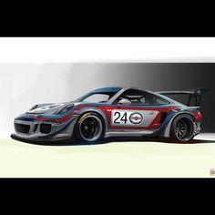 991 RWB Concept wearing the classic Martini Racing livery. By walterkim213