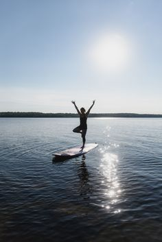 SUP Yoga ~ Stand Up Paddleboard Yoga ~ Pigeon Lake ~ Bobcaygeon ~ Ontario ~ Sarovara Yoga ~ Tree Pose Paddle Board Yoga, Standup Paddle Board, Sup Stand Up Paddle, Offshore Wind, Sup Yoga, Sup Surf, Learn To Surf, Outdoor Yoga, Bottle Painting