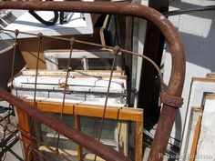 antique iron bed junk shopping trip Petticoat Junktion