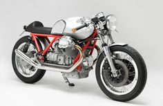 from moto guzzi´s classic V2-engine and frame