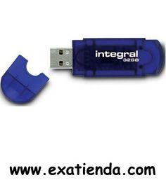 Ya disponible Memoria USB 2.0 integral 32gb   (por sólo 27.95 € IVA incluído):   -Capacidad:32GB -Interface:USB 2.0 -Color:Azul  -P/N: INFD32GBEVOBL  Garantía de 24 meses.  http://www.exabyteinformatica.com/tienda/372-memoria-usb-2-0-integral-32gb #memoria #exabyteinformatica