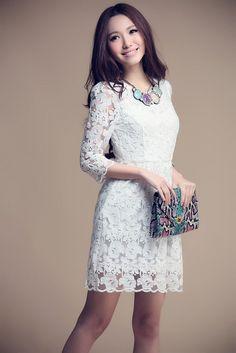 Vestido Renda Floral