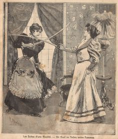 this is maybe the coolest thing I've ever seen. Un Duel au Sabre entre Femmes (a sword fight between women). So great.
