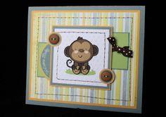 Baby Monkey card by Scrap Bug